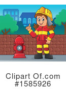 Firefighter Clipart #1585926 by visekart