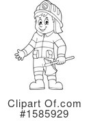 Firefighter Clipart #1585929 by visekart