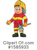 Firefighter Clipart #1585933 by visekart