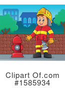 Firefighter Clipart #1585934 by visekart