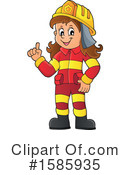 Firefighter Clipart #1585935 by visekart