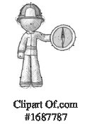 Firefighter Clipart #1687787 by Leo Blanchette