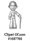 Firefighter Clipart #1687788 by Leo Blanchette