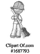 Firefighter Clipart #1687793 by Leo Blanchette
