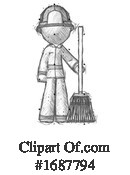 Firefighter Clipart #1687794 by Leo Blanchette