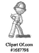 Firefighter Clipart #1687798 by Leo Blanchette
