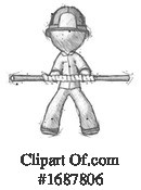 Firefighter Clipart #1687806 by Leo Blanchette