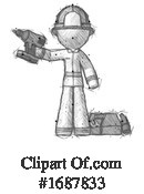 Firefighter Clipart #1687833 by Leo Blanchette