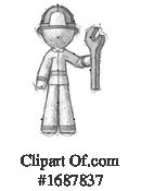 Firefighter Clipart #1687837 by Leo Blanchette