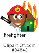 Royalty-Free (RF) Firefighter Clipart Illustration #84843