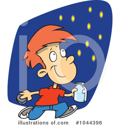 Fireflies Clipart #1044396 by toonaday