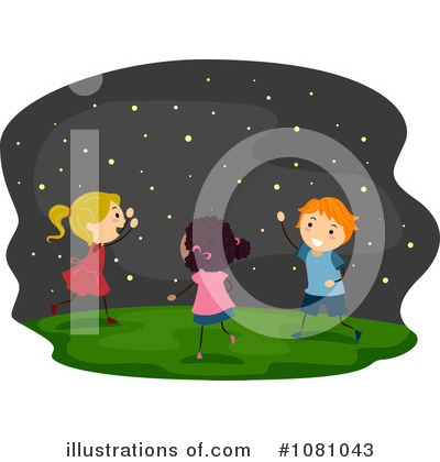 Royalty-Free (RF) Fireflies Clipart Illustration by BNP Design Studio - Stock Sample #1081043