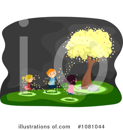 Fireflies Clipart #1081044 by BNP Design Studio