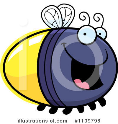 Fireflies Clipart #1109798 by Cory Thoman