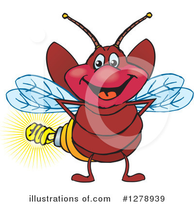 Fireflies Clipart #1278939 by Dennis Holmes Designs