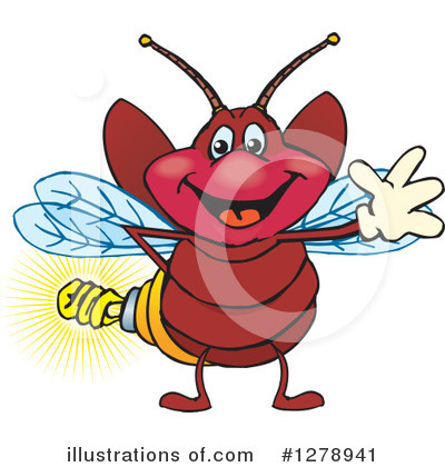 Fireflies Clipart #1278941 by Dennis Holmes Designs
