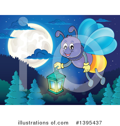 Fireflies Clipart #1395437 by visekart