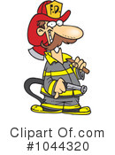 Royalty-Free (RF) Fireman Clipart Illustration #1044320