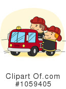 Royalty-Free (RF) Fireman Clipart Illustration #1059405