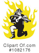 Royalty-Free (RF) Fireman Clipart Illustration #1082176