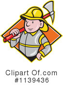Royalty-Free (RF) Fireman Clipart Illustration #1139436