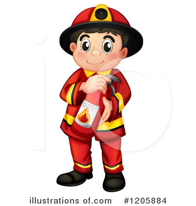 Fireman Clipart #1205884 by Graphics RF