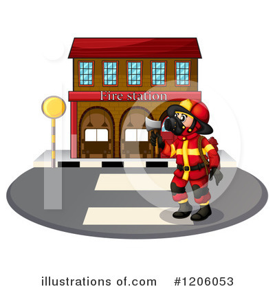 Fireman Clipart #1206053 by Graphics RF