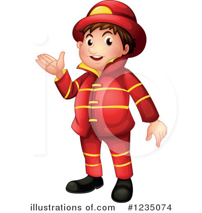 Fireman Clipart #1235074 by Graphics RF