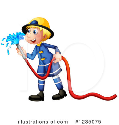 Fireman Clipart #1235075 by Graphics RF