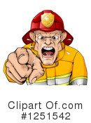 Fireman Clipart #1251542 by AtStockIllustration