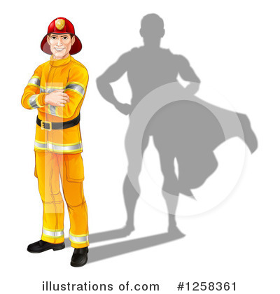 Firefighter Clipart #1258361 by AtStockIllustration