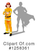 Fireman Clipart #1258361 by AtStockIllustration