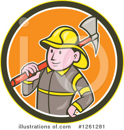Fire Department Clipart #1261281 by patrimonio