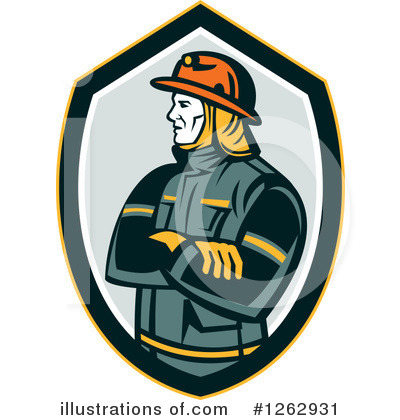 Firefighter Clipart #1262931 by patrimonio