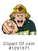 Fireman Clipart #1291671 by AtStockIllustration