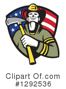 Royalty-Free (RF) Fireman Clipart Illustration #1292536