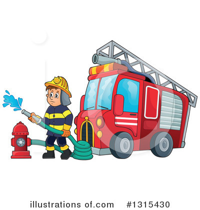 Firefighter Clipart #1315430 by visekart