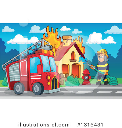 Fire Truck Clipart #1315431 by visekart