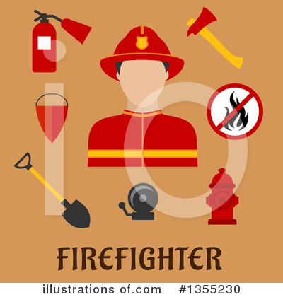 Fire Extinguisher Clipart #1355230 by Vector Tradition SM