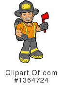 Royalty-Free (RF) Fireman Clipart Illustration #1364724