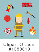 Fireman Clipart #1380819 by Vector Tradition SM