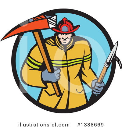 Fire Department Clipart #1388669 by patrimonio