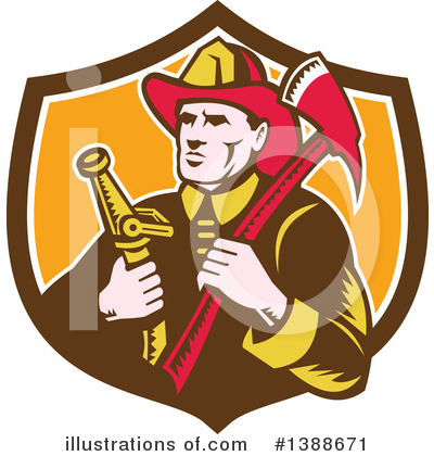 Fire Department Clipart #1388671 by patrimonio
