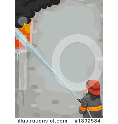 Firefighter Clipart #1392534 by BNP Design Studio