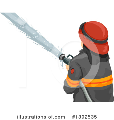 Firefighter Clipart #1392535 by BNP Design Studio