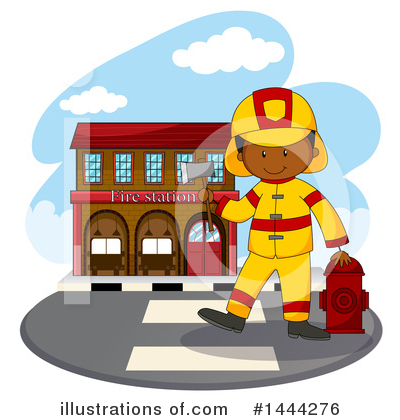 Royalty-Free (RF) Fireman Clipart Illustration by Graphics RF - Stock Sample #1444276