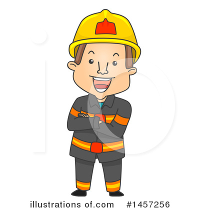 Firefighter Clipart #1457256 by BNP Design Studio