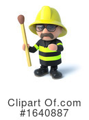 Fireman Clipart #1640887 by Steve Young