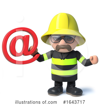 Fireman Clipart #1643717 by Steve Young