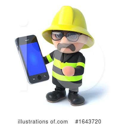 Royalty-Free (RF) Fireman Clipart Illustration by Steve Young - Stock Sample #1643720
